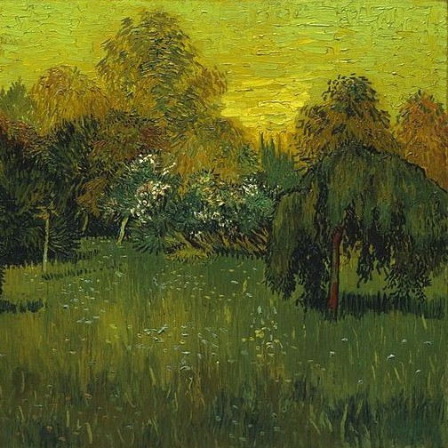 The Poet's Garden, Vincent Van Gogh, 1888